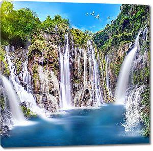 Многоструйный водопад