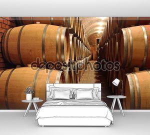 бочки с вином в винодельне