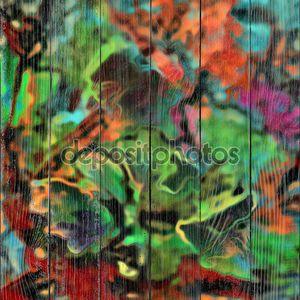 Искусство стекла цветочный красочный фон