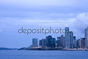 Утреннее фото Гонконга