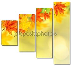 Фон с осенними листьями