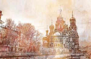 Петербург в стиле акварели
