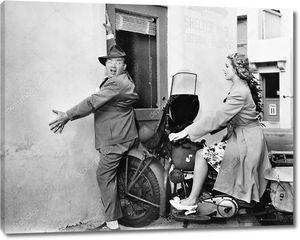 Женское вождение мотоцикла