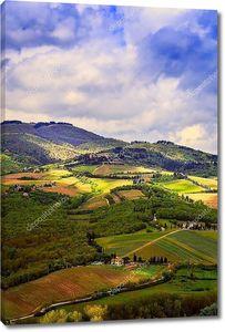 Сельский пейзаж долины Кьянти, Тоскана