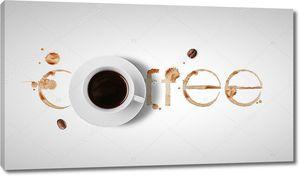 Следы от чашки с кофе