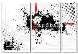 Гандбол плакат черно-белый