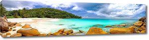 Панорама пляжа Сейшельских островов