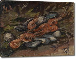 Ван Гог. Натюрморт с мидиями и креветками