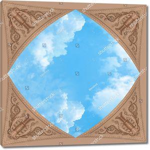 Небо и 3Д узор