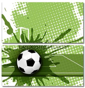 Футбольный мяч на абстрактном фоне