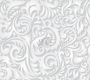 цветочный бесшовный фон белый