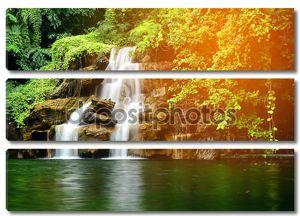 Красивый искусственный водопад