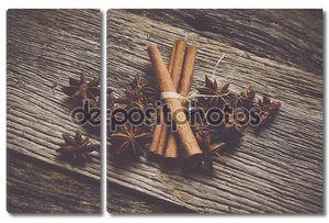 Палочки корицы и звездчатого аниса