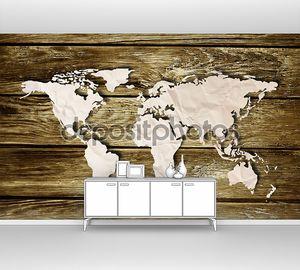Бумага карты карта мира