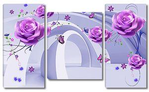 Абстракция из арок и цветов