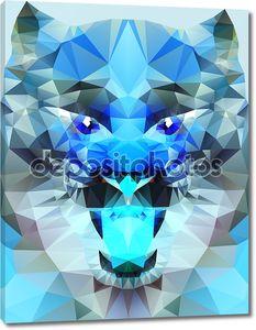 Абстрактный синий тигр