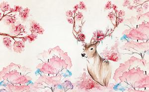Рога оленя зацвели розами