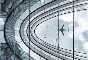 Современная архитектура, здание с посадки самолета
