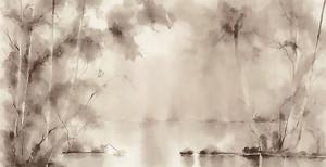 Деревья на озере