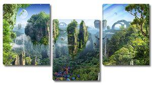 Невероятный вид на острова с лесами