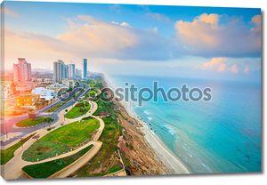 вид с воздуха города Нетании