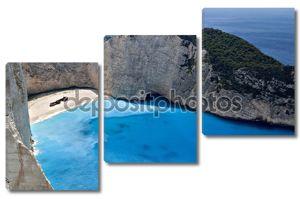 Навагио Бич на острове Закинф в Греции