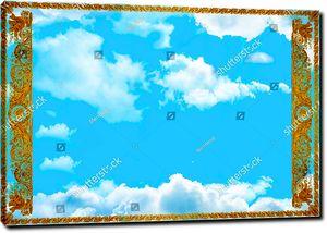 Небо с орнаментом по бокам