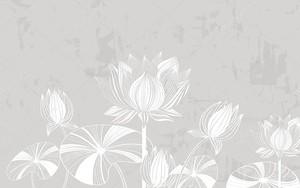 Монохромные водяные лилии