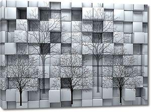 Деревья на кубической стене