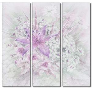 Лилия в букете из белых цветов