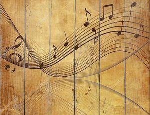 старинный фон с нотами