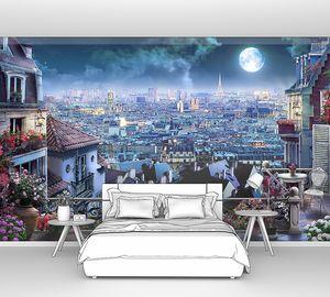 Ночь, луна, балкон