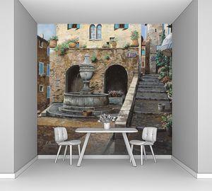 Улочка с фонтаном и лестницей