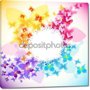 Элегантные бабочка фона с пространством для текста