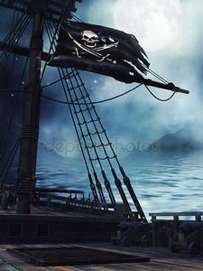 Палуба пиратского корабля