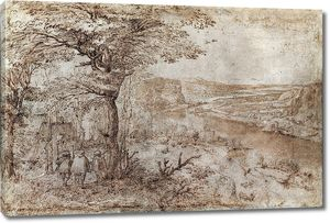 Брейгель. Пейзаж с паломниками