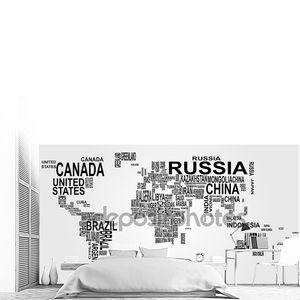 мировая карта с названием страны