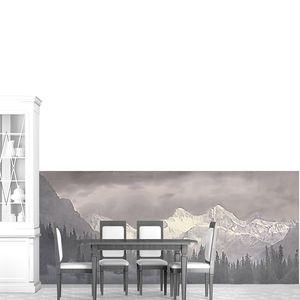 Серый горный пейзаж
