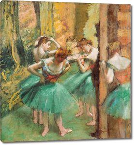 Эдгар Дега. Танцовщицы. Розовый и зеленый