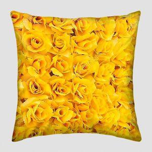 Фон из желтых роз