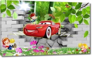 Машинка сквозь стену