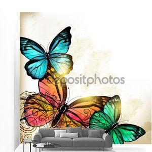 Элегантные моды фон с бабочками