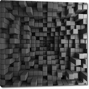 Кубов блоков Обои фон черные