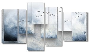 Разноуровневые полотна с горным рельефом