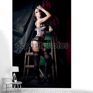танцовщица бурлеска девушка в чулках