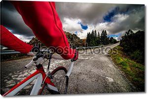 Велосипедиста на дороге