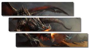 Боевой рыцарь и дракон