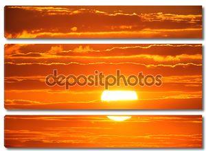 Живописный заход солнца
