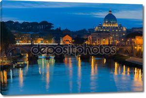 Ватикан и река Тибр