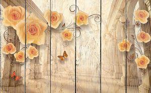 Оранжевые цветы и колоннада
